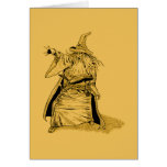 wizard with pointed hat  card