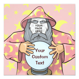Wizard with your face card