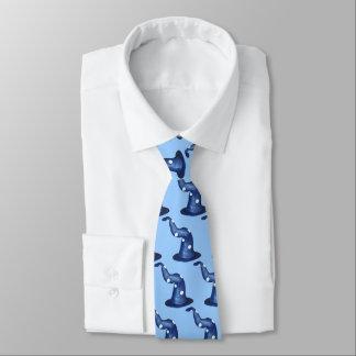 Wizards Blue Double Sided Pattern Tie