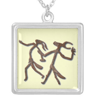 Wizards Dance-rust Silver Plated Necklace