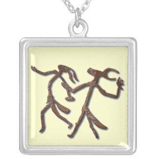 Wizards Dance-rust Square Pendant Necklace