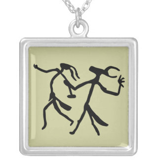 Wizards Dance Square Pendant Necklace
