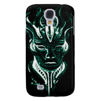 Wizard's glowing green face galaxy s4 covers