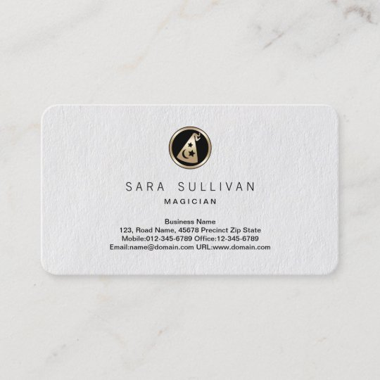 Wizards Hat Icon Magician Business Card