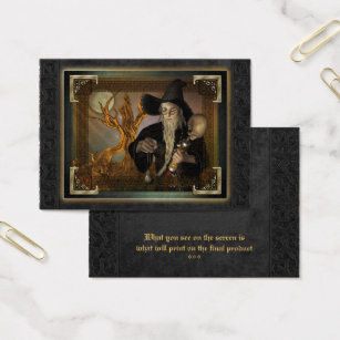 Magic business cards templates zazzle wizards magic fantasy illustration aceo business card colourmoves Gallery