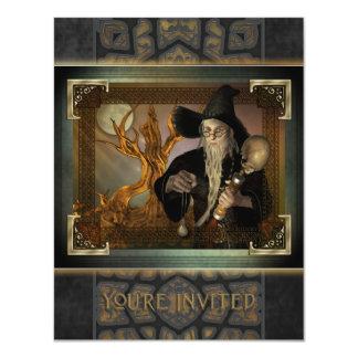 """Wizards Magic Small Invitation 4.25"""" X 5.5"""" Invitation Card"""