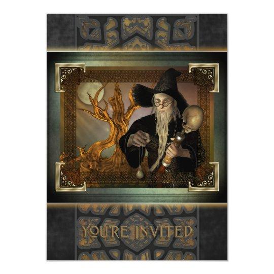 Wizards Magic X-Large Invitation