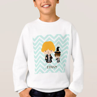 Wizards Magician Brothers on Chevron Background Sweatshirt
