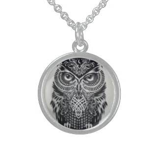 WIZARD'S OWL PENDANT NECKLACE