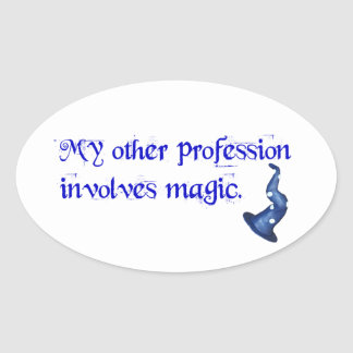 Wizards Profession Oval Sticker