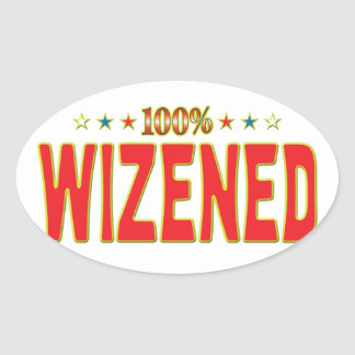 Wizened Star Tag Oval Sticker