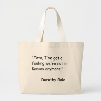 Wizzard of Oz Movie Quote Large Tote Bag