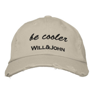 WJ Cap BE more coolly Embroidered Baseball Cap