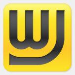 WJ Icon 1.5in Sticker Square Sticker