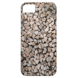 WJ iphone 5 Hülle -Holzstapel iPhone SE/5/5s Case