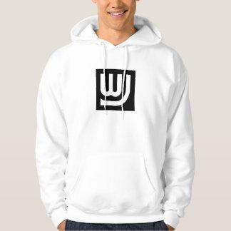 WJ Logo Hoodie Adult White