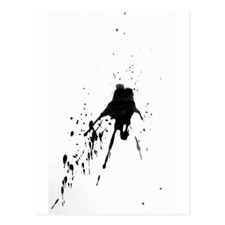 WJ work out design black splash Postcard
