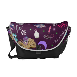 WK #ModernWitchLife Purple Print Overnight Bag