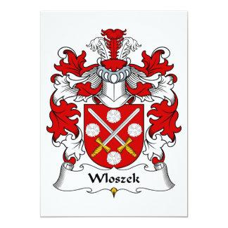 Wloszek Family Crest Card