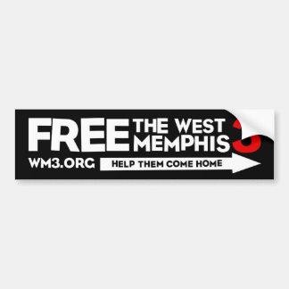 WM3 HELP THEM bumper sticker Car Bumper Sticker