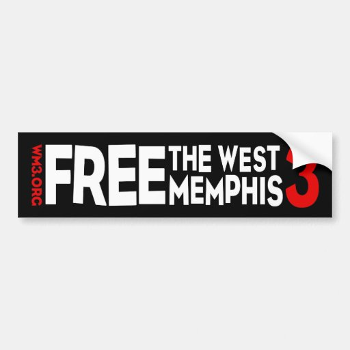 WM3 WEST MEMPHIS THREE bumper sticker