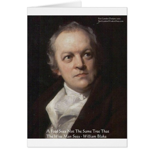 """Wm Blake """"Seeing Trees"""" Wisdom Quote Gifts Card"""