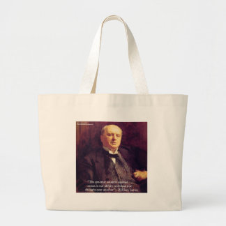 """Wm James """"Curing Stress"""" Wisdom Quote Gifts Tote Bags"""
