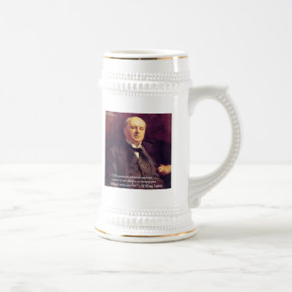 "Wm James ""Curing Stress"" Wisdom Quote Gifts Beer Stein"
