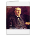 "Wm James ""Curing Stress"" Wisdom Quote Gifts Card"