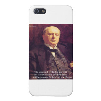 """Wm James """"Life Worth Living"""" Wisdom Quote Gifts iPhone SE/5/5s Case"""