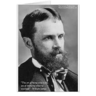 Wm James Wise Overlook Wisdom Quote Gifts Card