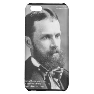 """Wm James """"Wise/Overlook"""" Wisdom Quote Gifts iPhone 5C Covers"""