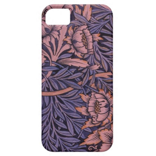 Wm Morris floral en las cajas y las cubiertas del  iPhone 5 Case-Mate Cárcasas