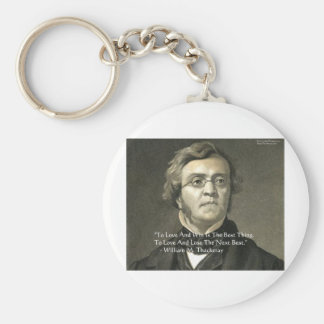 Wm Thackeray Love & Win Quote Gifts Cards Tees Key Chains