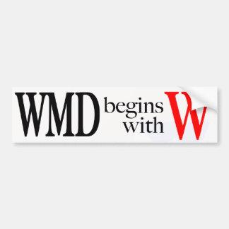 WMD comienza con la pegatina para el parachoques d Etiqueta De Parachoque