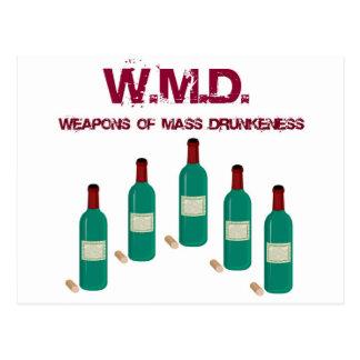 "WMD ""WEAPONS OF MASS DRUNKENESS"" WINE PRINT POSTCARD"