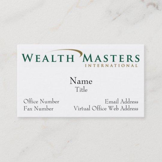WMI logo, Name, Title, Email Address, Virtual O    Business Card