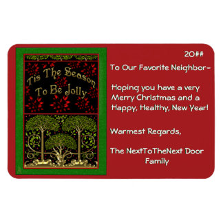 WmMorrisXmas (Magnetic Christmas Card) Rectangle Magnets