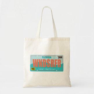 WNDSRFR License Plate Tote Bag