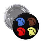 """W'nR'n botón de """"4 cascos"""" Pin"""