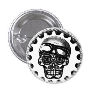 W'nR'n Sugar Skull Cafe Racer 1 Inch Round Button