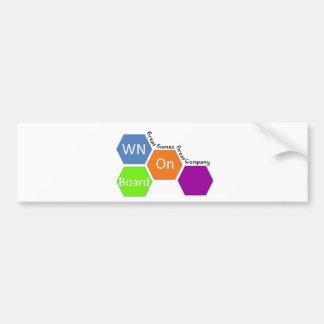 WOB Bumper Sticker Template Car Bumper Sticker