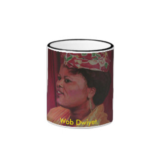 Wob Dwiyet cup. Ringer Mug