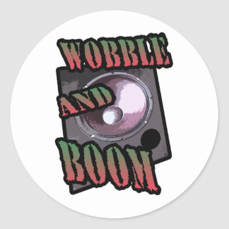wobble and boom Dubstep Round Stickers