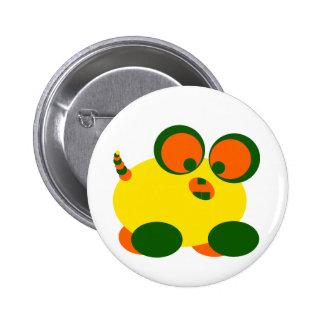 Wobble Monster Pinback Button