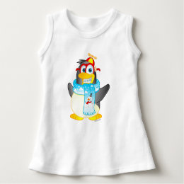 Wobble Penguin Cartoon Dress