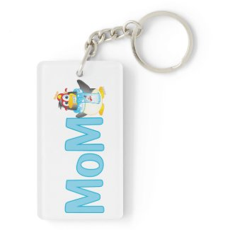 Wobble Penguin Gift for Mom - Acrylic Keychain