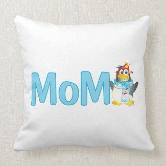 Wobble Penguin Gift for Mom - Throw Pillows