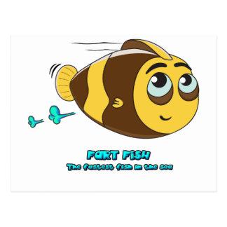 Wobblefin Fart Fish Post Card