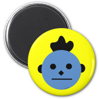 Wobbly hair 2 inch round magnet